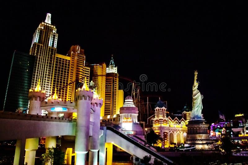 Iluminacja Hotelowa & Kasynowa Nowy Jork zdjęcie royalty free