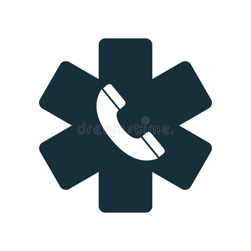 Życie medycznego nagłego wypadku telefonu gwiazdowa ikona royalty ilustracja