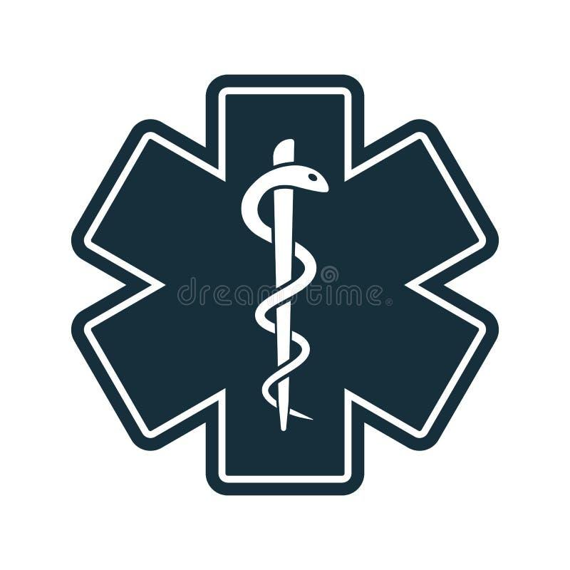 Życie węża gwiazdowa medyczna ikona ilustracja wektor