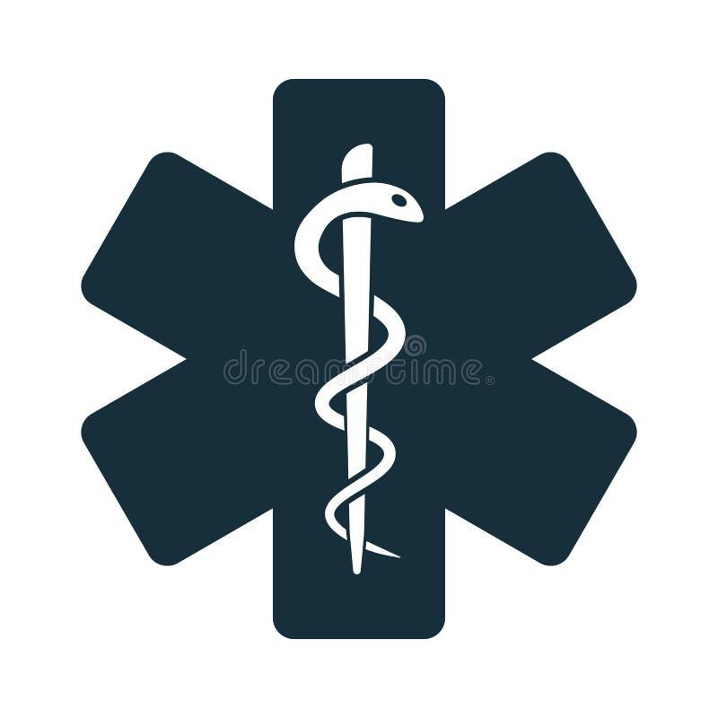 Życie węża gwiazdowa medyczna ikona royalty ilustracja