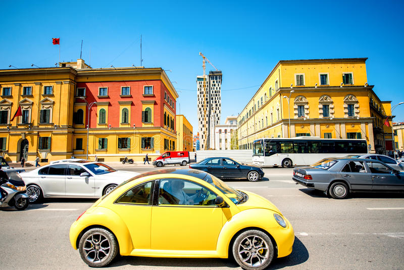 Życie w Tirana mieście obraz stock
