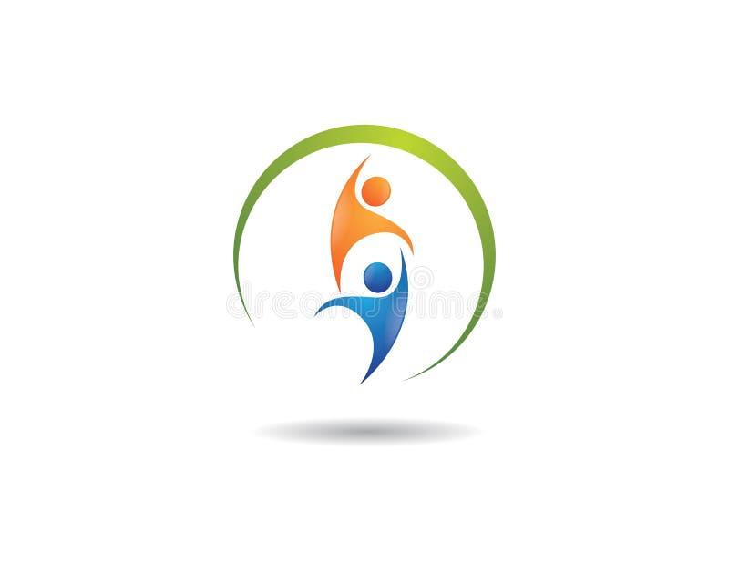 ?ycie zdrowy logo royalty ilustracja