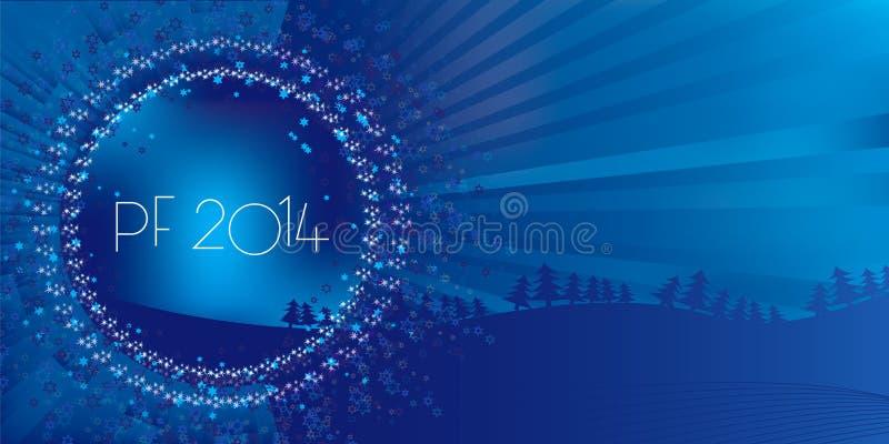 Życzenia dla nowego roku, boże narodzenia ilustracja wektor