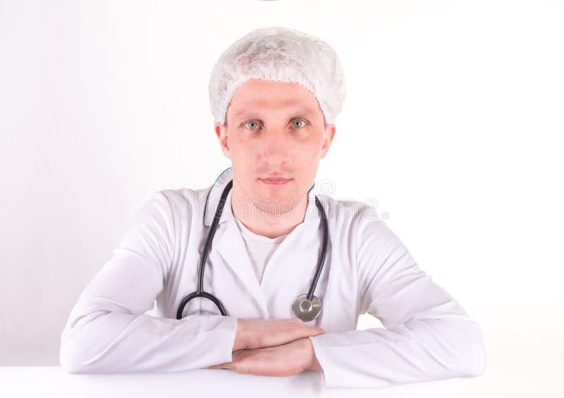 Życzliwa kobiety lekarka, chirurg odizolowywający lub zdjęcia stock