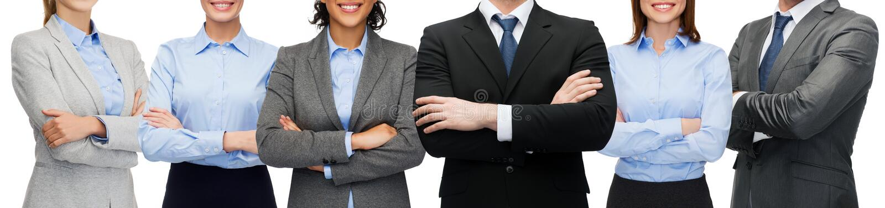 Życzliwa międzynarodowa biznes drużyna, grupa lub zdjęcia royalty free