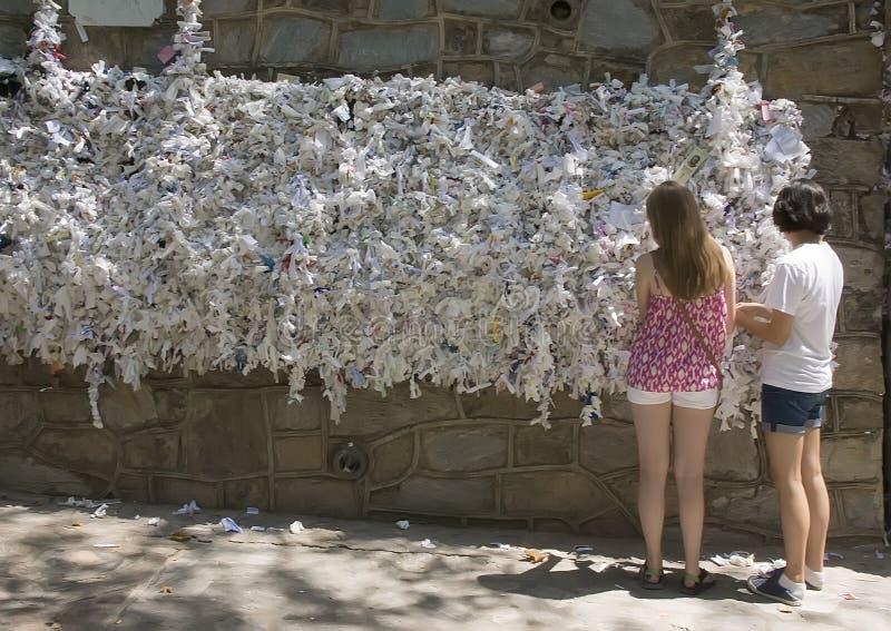 Życzyć ścianę, dom maryja dziewica zdjęcia royalty free