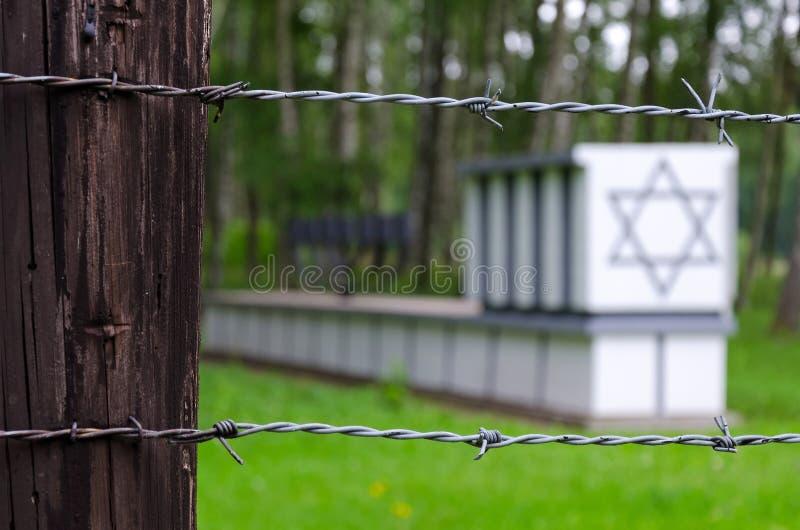 Żydowscy grób w Stutthof koncentracyjnym obozie obrazy royalty free