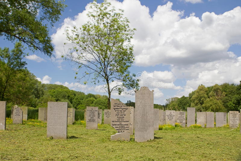 Żydowski Cmentarniany Zeeburg istniał w 2014 trzysta rok zdjęcie royalty free