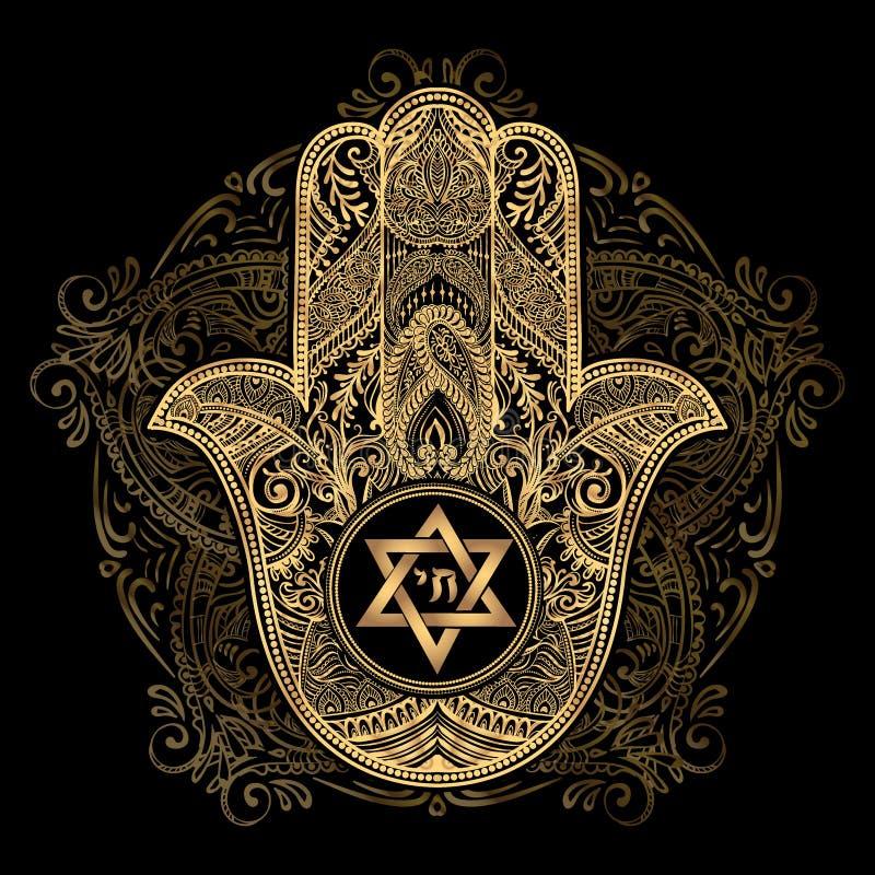 Żydowski hamsa tatuaż