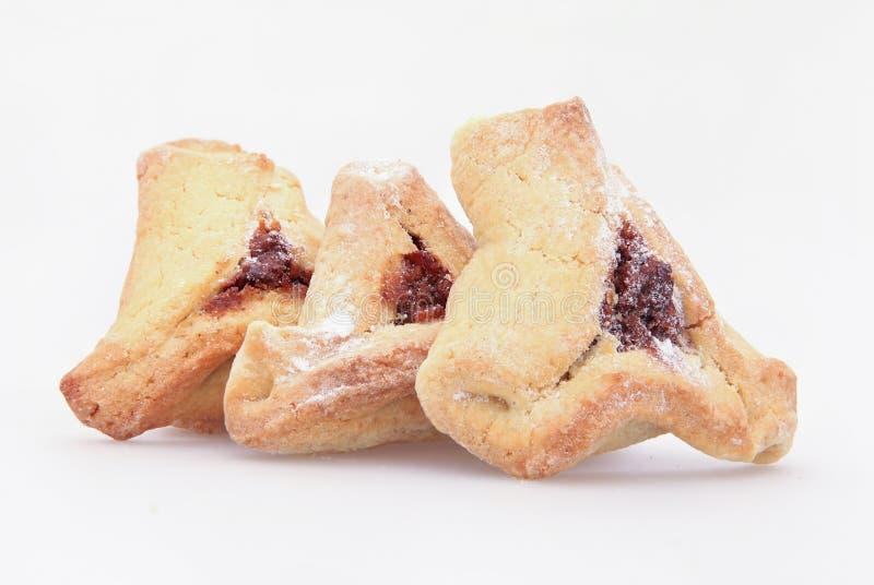 Żydowski wakacyjny karmowy Purim Hamantaschen obrazy stock
