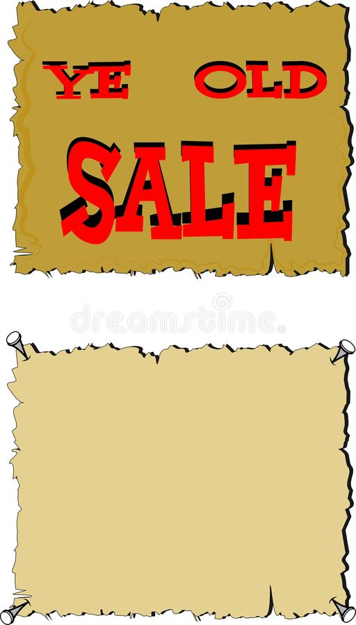 Download Ye old sale sign stock photo. Image of document, obsolete - 23690830