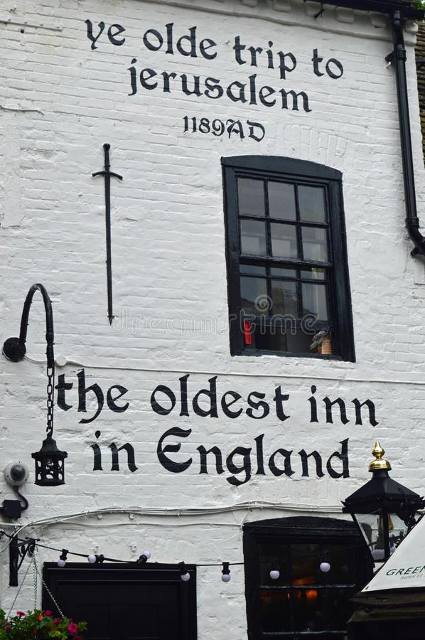 Ye Olde Trip to Jerusalem. Is a public house in Nottingham which claims to have been established in 1189, however there is no documentation to verify this date stock photography