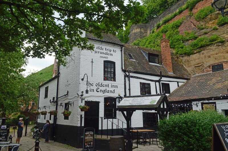 Ye Olde Trip to Jerusalem. Is a public house in Nottingham which claims to have been established in 1189, however there is no documentation to verify this date stock photos