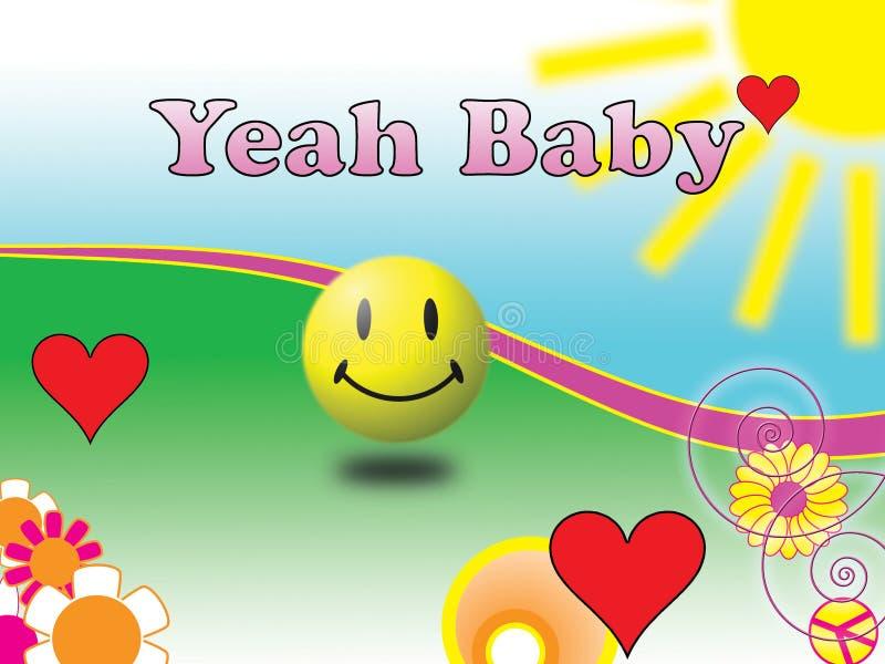 Yeah bebê ilustração stock