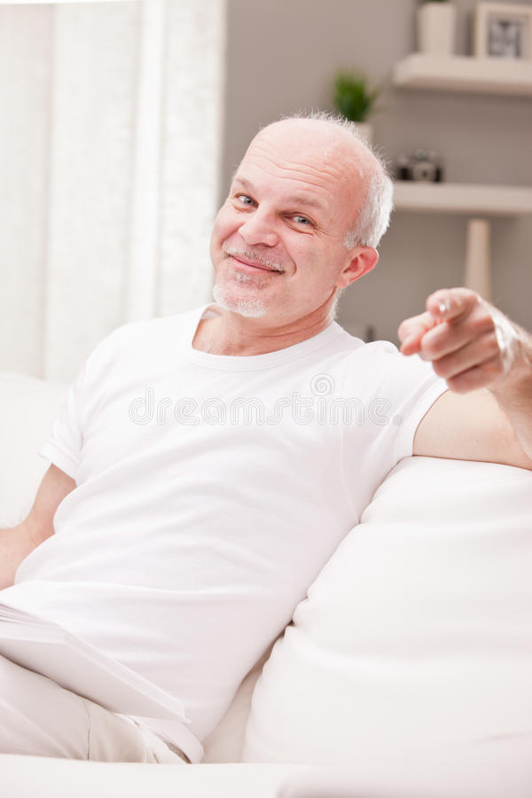 Yeah right here you are! stock photo