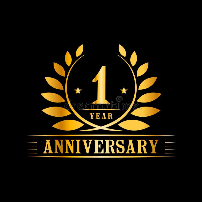 1 year anniversary celebration logo 1st anniversary luxury design template vector and illustration stock vector illustration of gold decorative 154861136 1 year anniversary celebration logo