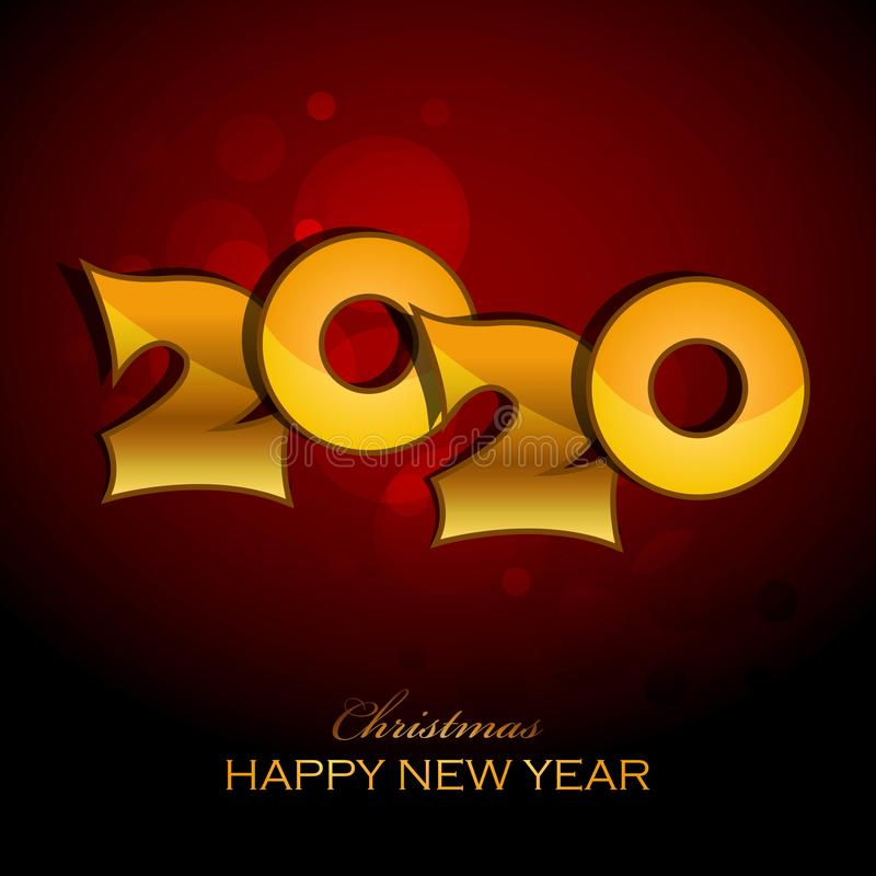 Merry Christmas Happy NEW Year 2020 greeting card stock illustration stock photo