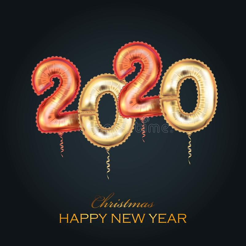 Merry Christmas Happy NEW Year 2020 greeting card stock illustration stock photography