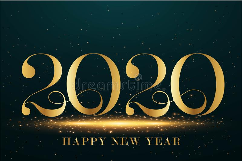 Merry Christmas Happy NEW Year 2020 greeting card stock illustration royalty free stock images
