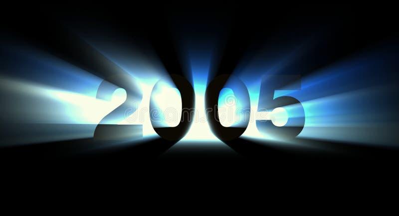 Year 2005 stock illustration