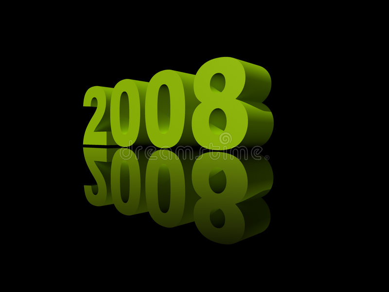 Year 2008 stock photography