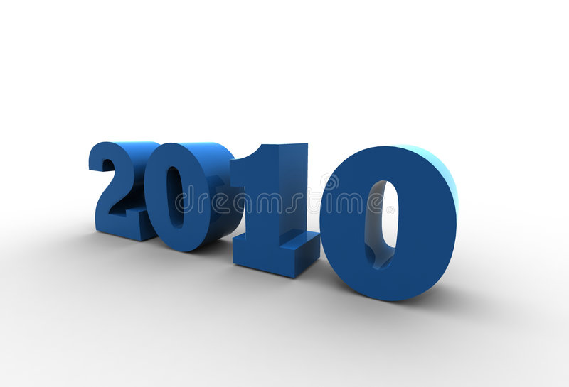 Year 2010 royalty free stock photo