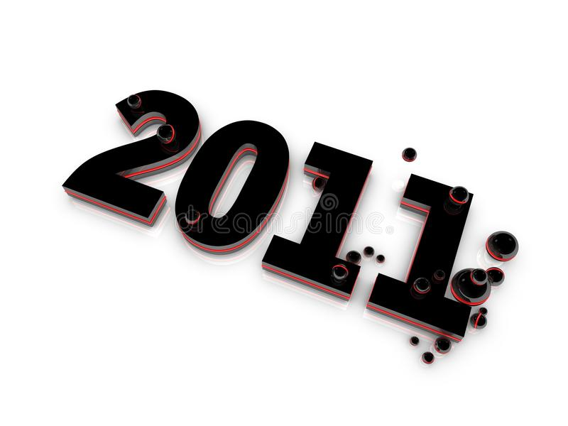 Download Year 2011 stock illustration. Image of creative, neon - 15335037