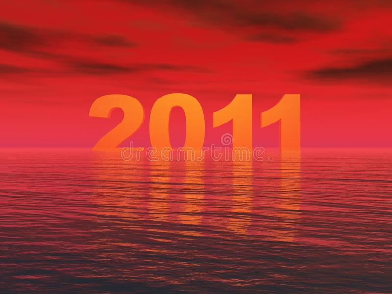 Download Year 2011 Sunset stock illustration. Image of year, water - 14570532