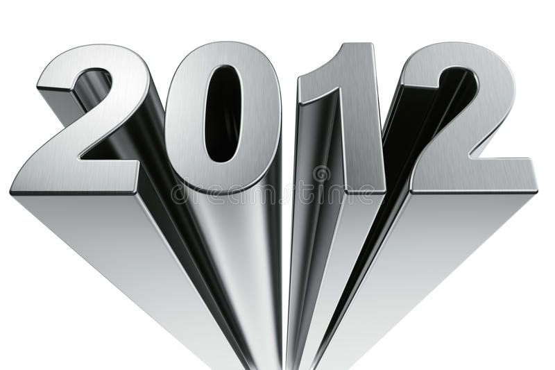 Download Year 2012 stock illustration. Image of isolation, reflective - 21512356