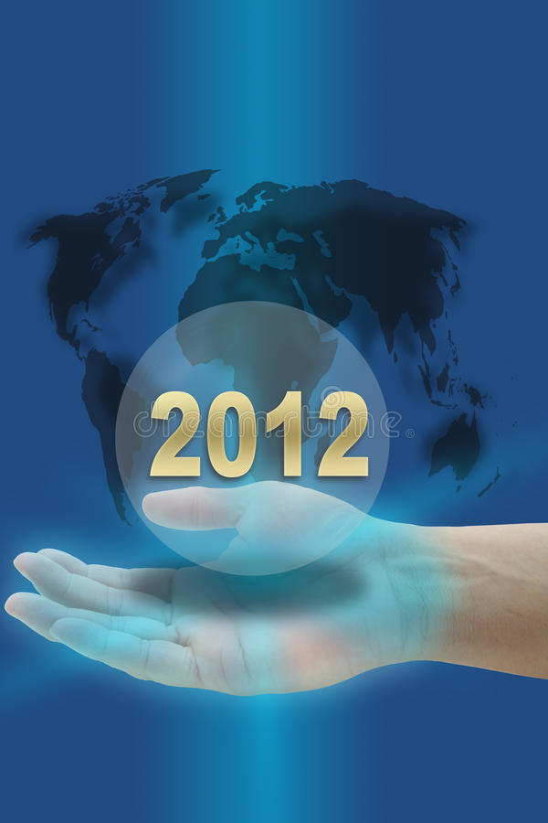Download Year 2012 stock illustration. Image of innovative, blue - 21863637