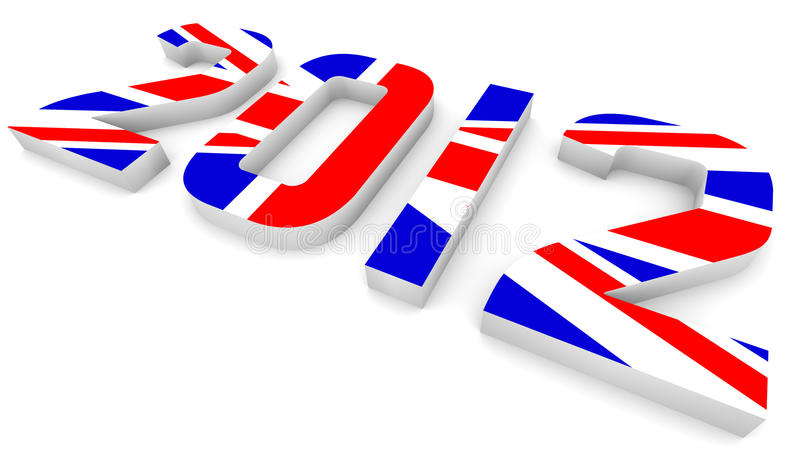 Year 2012 In British Flag for Olympic Games royalty free illustration