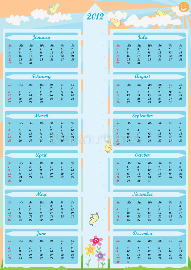 Free Year 2012 Calender Arrow_eps Stock Photos - 20135113