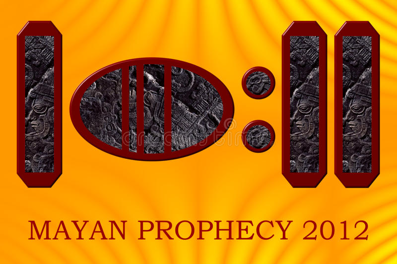 The year 2012 in the Maya hieroglyphic system. The number 2012 as represented in the Maya hieroglyphic system - the year of the infamous Mayan Prophecy. Each stock illustration