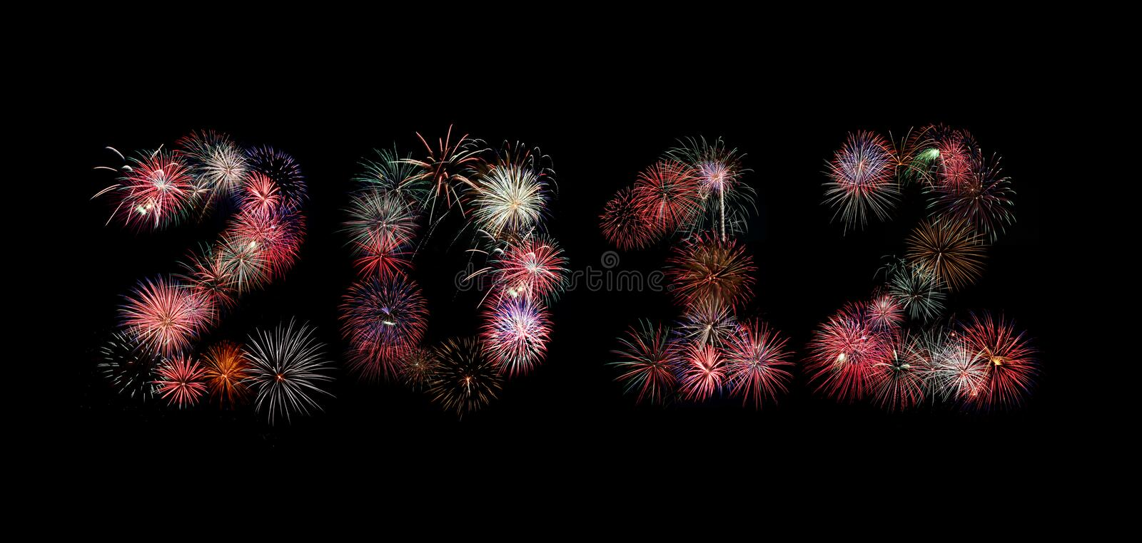 Download The Year 2012 Written In Fireworks Stock Illustration - Illustration: 21651762