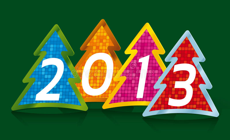 Download Year 2013 stock vector. Image of card, illustration, tree - 27357903