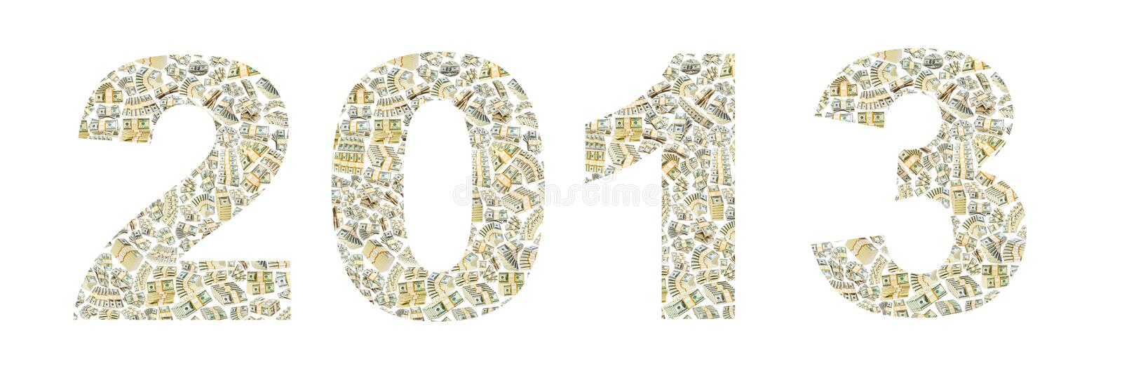 Download Year 2013 from dollars stock image. Image of background - 26373695