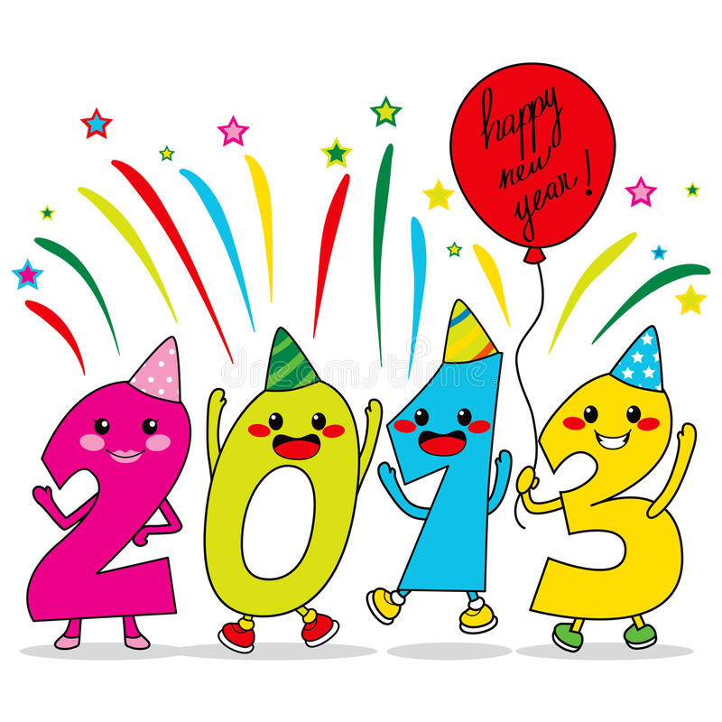 Year 2013 Party stock illustration