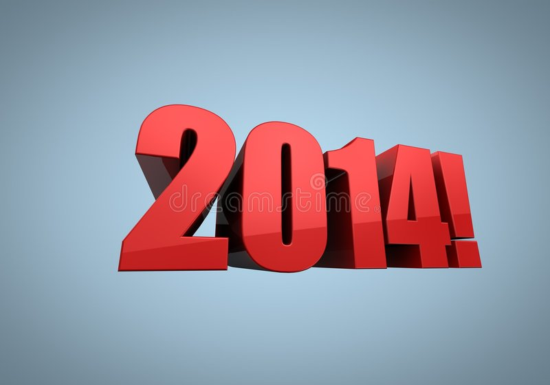 Download Year 2014 in red stock illustration. Image of illustrated - 8137656