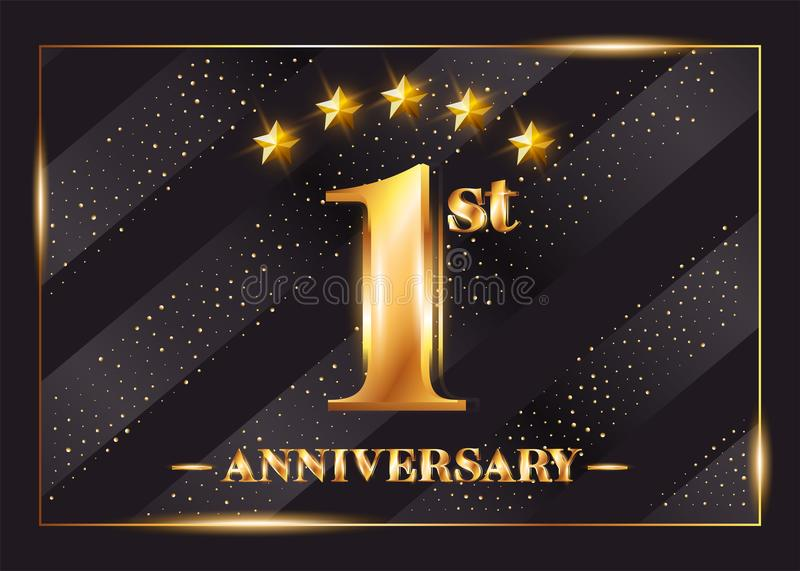 1 year anniversary celebration vector logo 1st anniversary stock download 1 year anniversary celebration vector logo 1st anniversary stock vector illustration of stopboris Image collections
