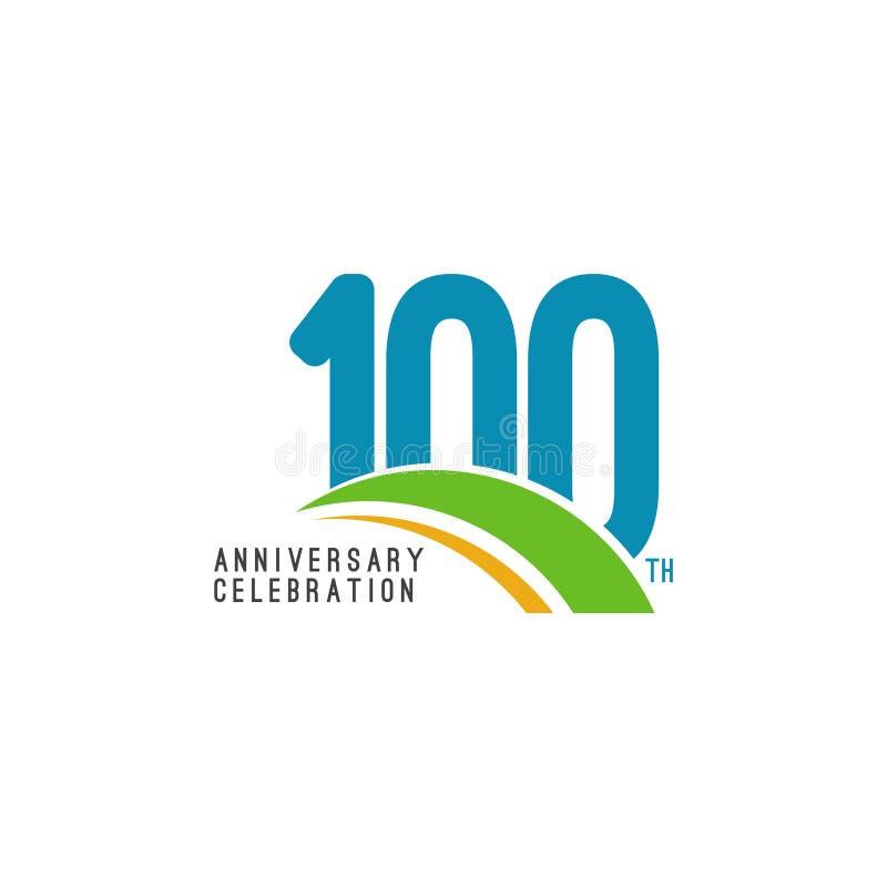 100 Year Anniversary Celebration Vector Template Design Illustration royalty free illustration