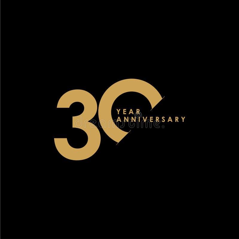 30 Year Anniversary Symbol: Celebration Success Stock Illustrations