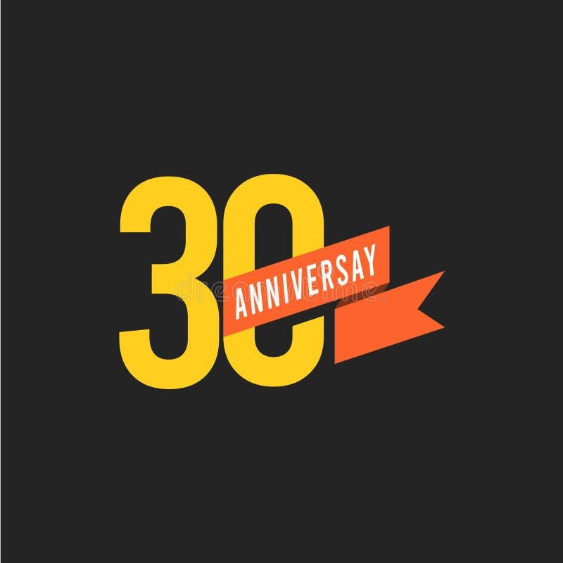 30 Year Anniversary Symbol: Happy 30th Birthday Banner Stock Illustrations