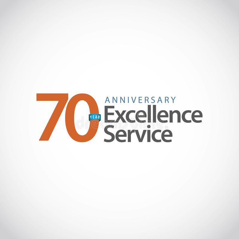 70 Year Anniversary Excellence Service Vector Template Design Illustration stock photo