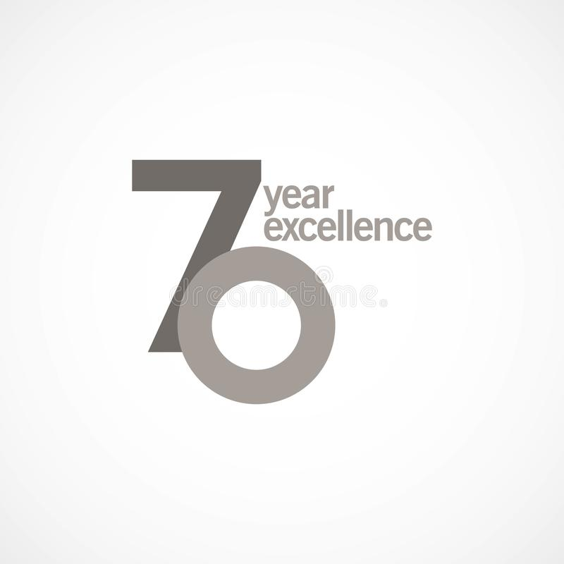 70 Year Anniversary Excellence Vector Template Design Illustration stock photography