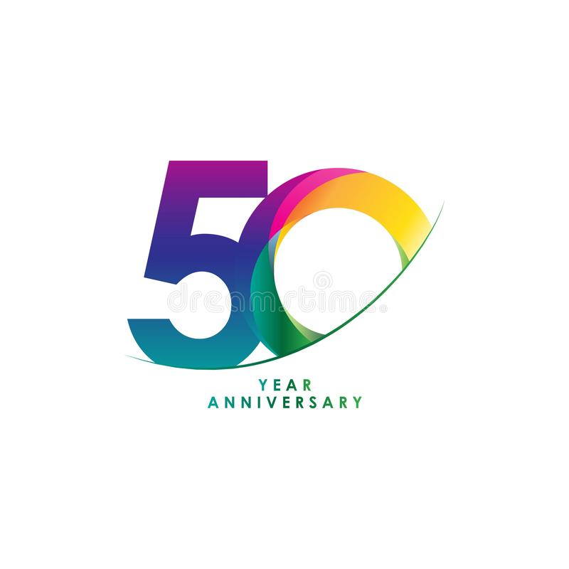 50 Year Anniversary Vector Design Illustration vector illustration