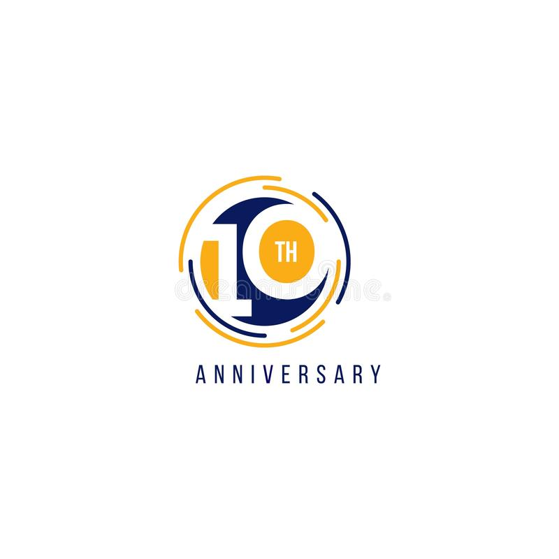 10 Year Anniversary Vector Template Design Illustration royalty free illustration