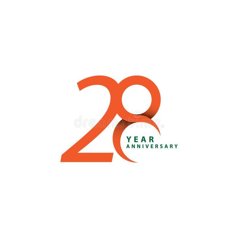 28 Year Anniversary Vector Template Design Illustration. Years logo celebration background gold golden number happy symbol modern holiday success web banner vector illustration