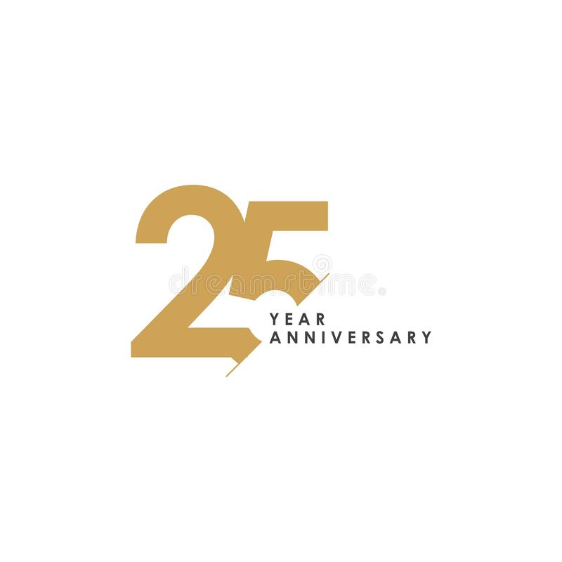 25 Year Anniversary Vector Template Design Illustration vector illustration