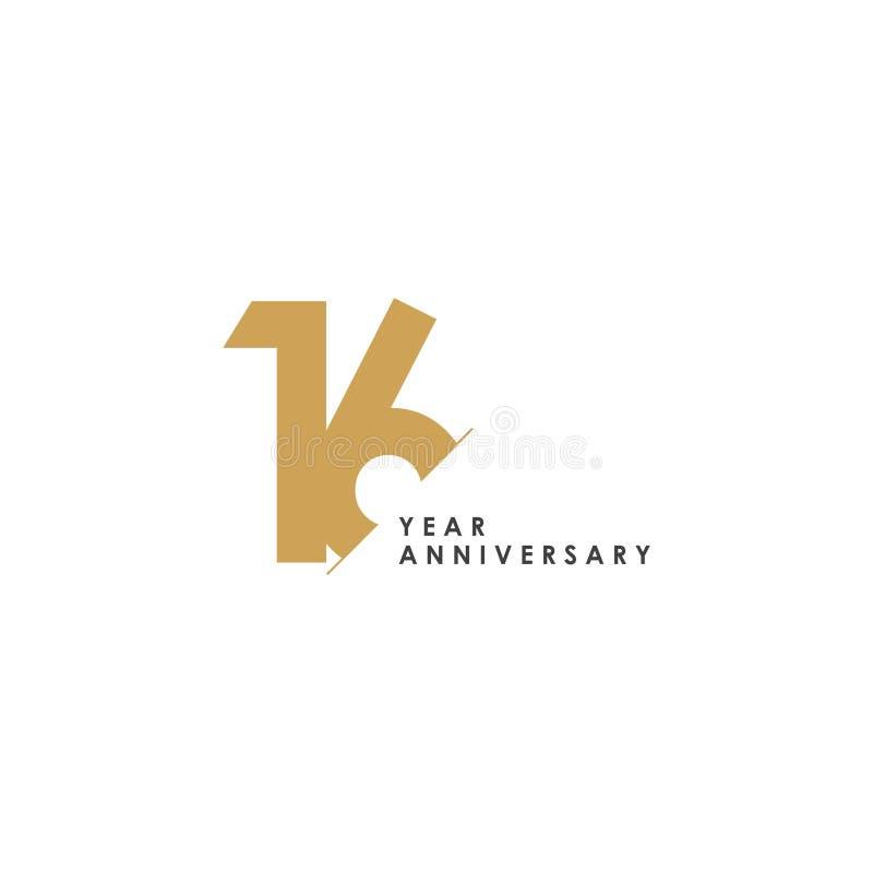 16 Year Anniversary Vector Template Design Illustration vector illustration