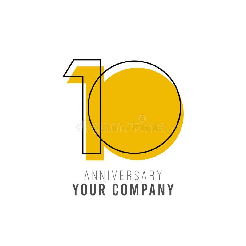 10 Year Anniversary Vector Template Design Illustration vector illustration
